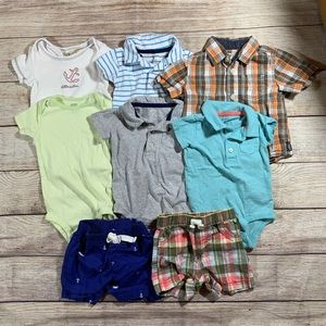 Other - 9 month summer bundle 6 tops 2 bottoms